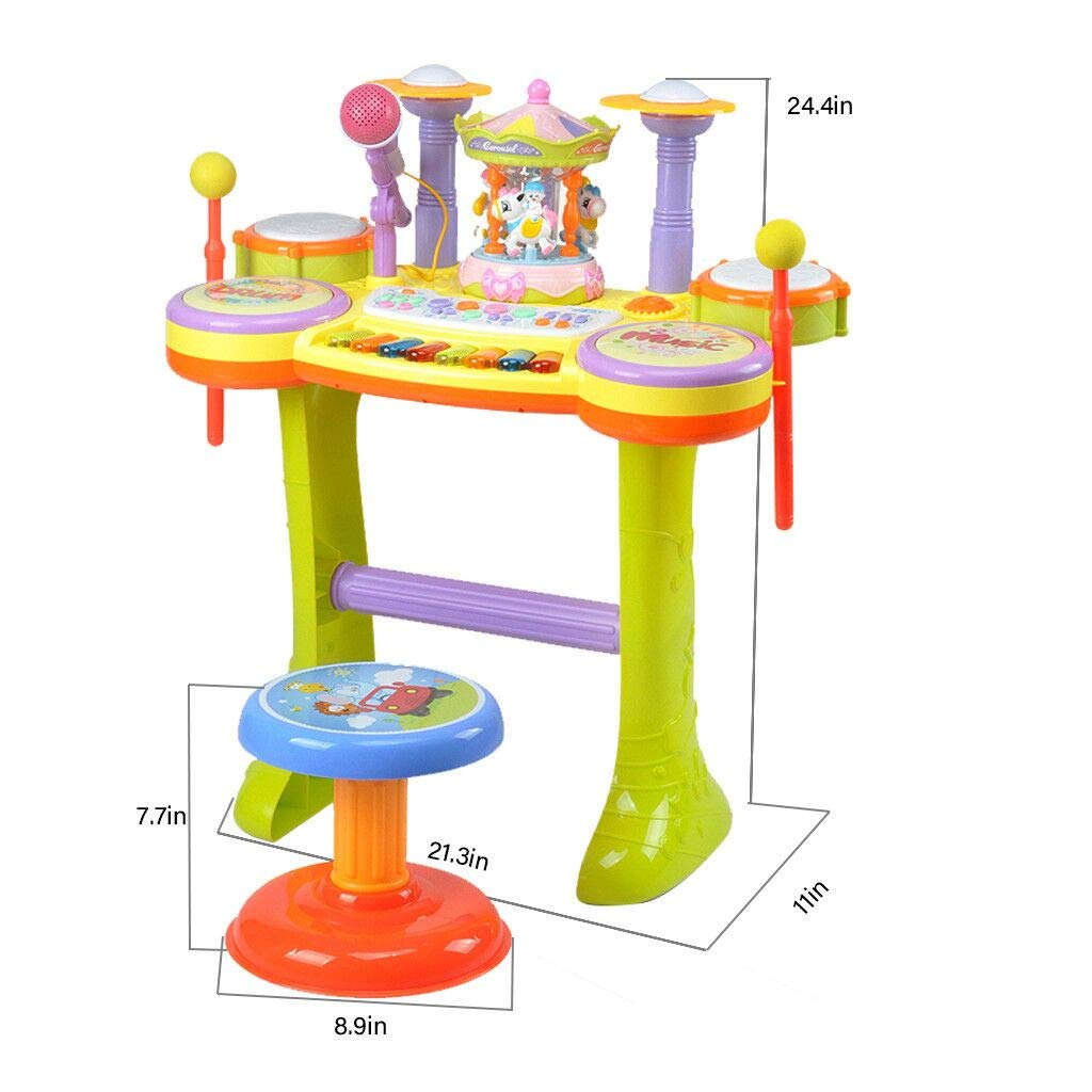 Chranto Multifunctional Electronic Piano Carousel High Fidelity Microphone Music Piano by Chranto toy (Image #2)