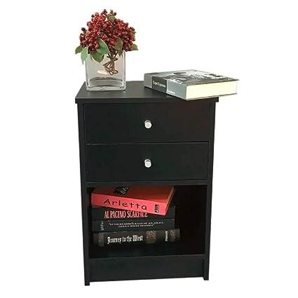 Amazon.com: 1/2 Drawer Nightstand Wood Bedroom 2/3 Tier Bedside End ...