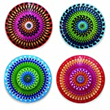 Kikkerland Moire Coasters, Set of 4