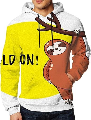 Men Sweatshirt Orange White Tartan Plaid Beauty Fashion 3D Digital Printing Funny Hoodie Pullover with Pockets
