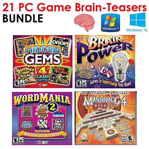 Mahjong 4 Deluxe, Brain Power, Word Mania 2, Hidden Gems Bundle [Windows 7] [Windows - Teaser Brain Dice
