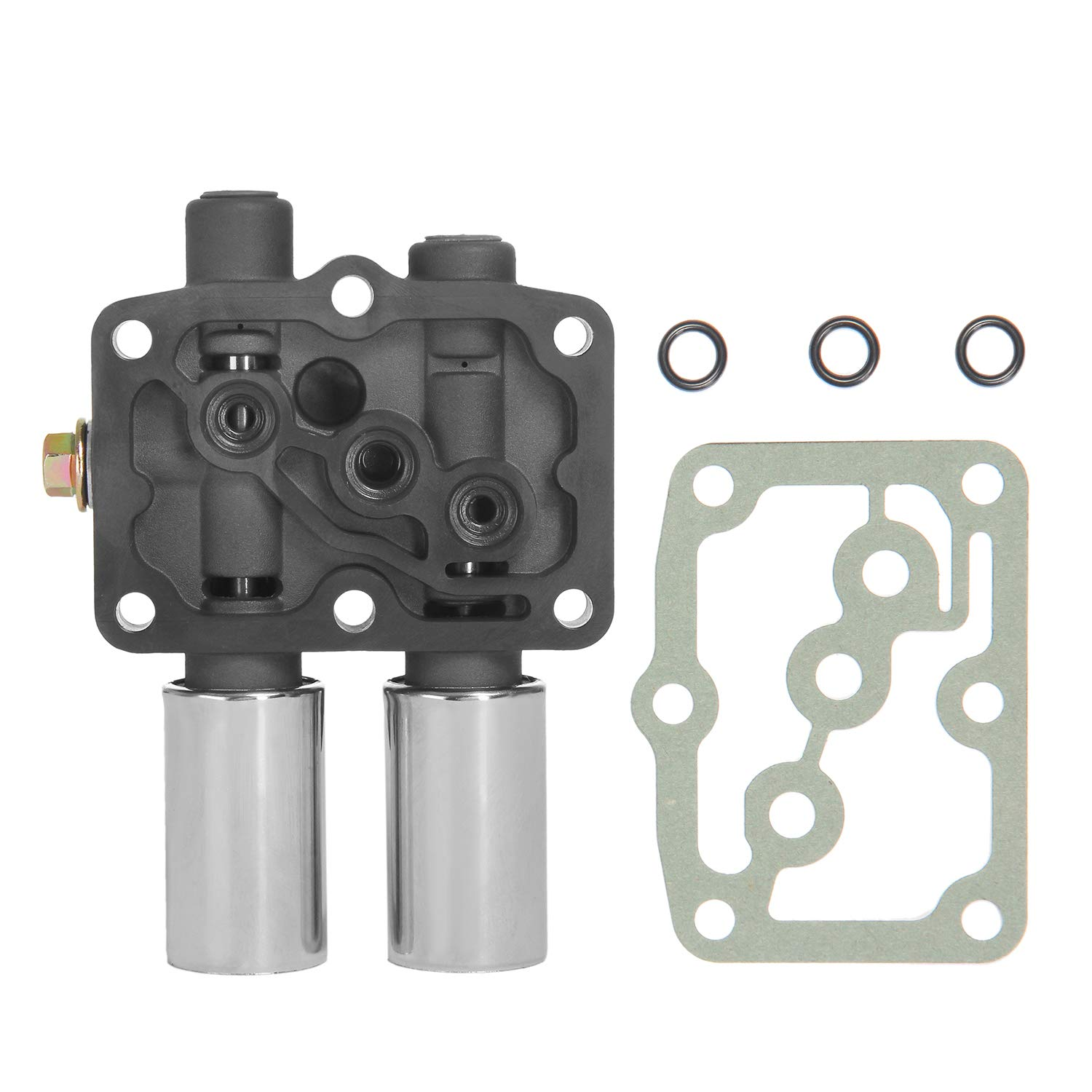 Transmission Dual Linear Solenoid with 1PCS Gasket and 3PCS O-Rings   for Honda Accord Odyssey Pilot Prelude, Acura CL TL MDX   Replaces# 28250-P6H-024, 28250P6H024