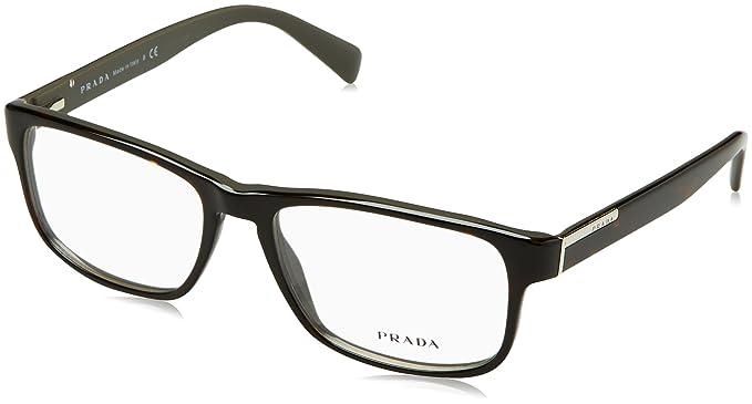 5fd56cd1620f Amazon.com: PRADA Eyeglasses VPR 07P Dark Havana KA51O1 PR07PV ...