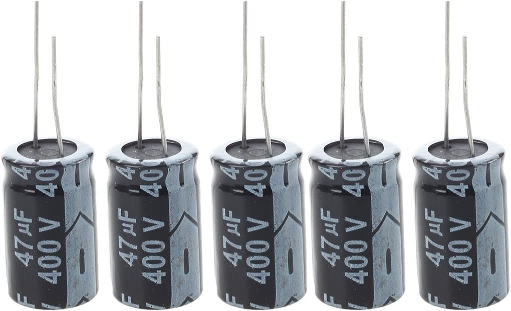 Gaoominy 5 pcs 400V 47UF 18 x 20mm Condensateur electrolytique en aluminium