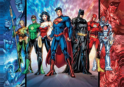 MightyPrint DC Comics - Justice League - Unique Superhero Wall Art - NOT Made of Paper - Movie Collectible