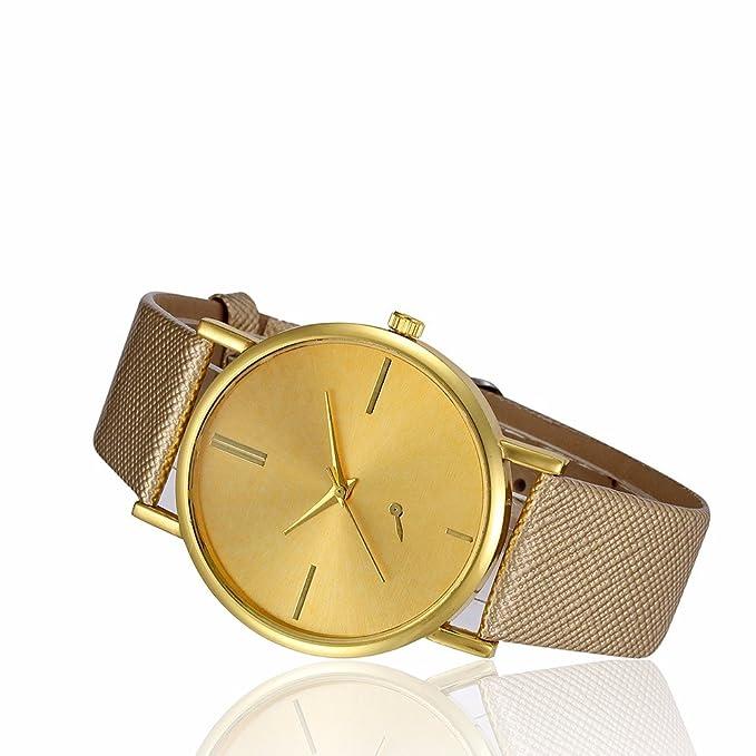 ... Fashion limpieza Lady relojes relojes para mujeres en venta relojes para las mujeres, esfera redonda caso cómodo piel sintética C21): Amazon.es: Relojes
