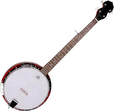 VGS Select Bluegrass Banjo 5 String 5-saitig Saiten Remo Fell Koffer Mahagoni