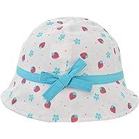 Happy Cherry - Sombrero Pescador para Bebés Recien Nacido Niñas 0 Meses-4 años Suave Gorro de Sol con ala Infantil para…