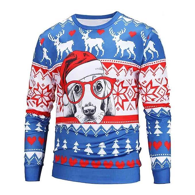 ... suéter Hombre Storm Los Amantes de Las Parejas Unisex Navidad Imprimir Blusa Suelta Tops Camisa Camisa de Manga Larga: Amazon.es: Ropa y accesorios