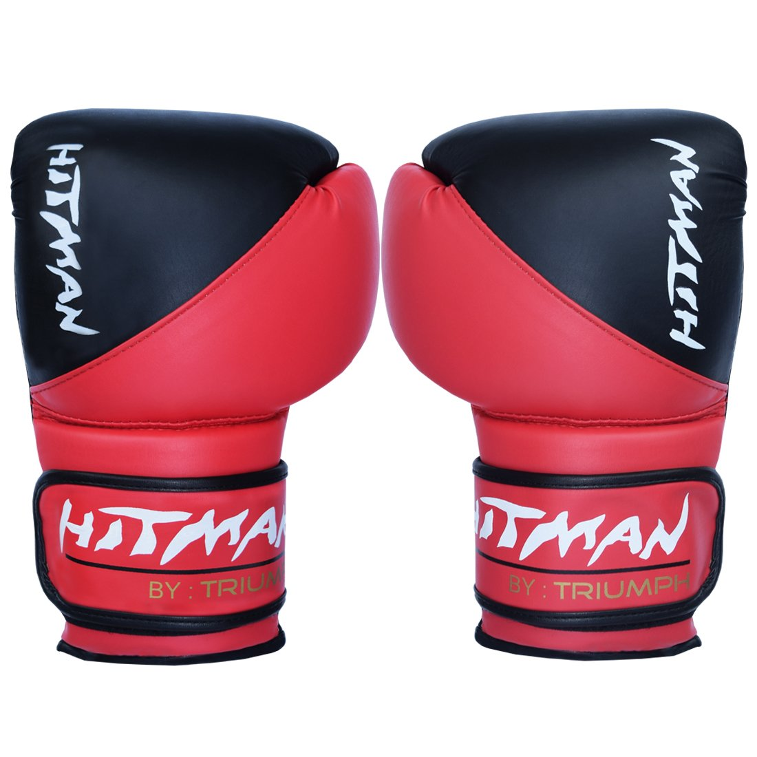 Buy Hitman Gb04592 Pu Strike Boxing Gloves Black Red Online At Low Prices In India Amazon In