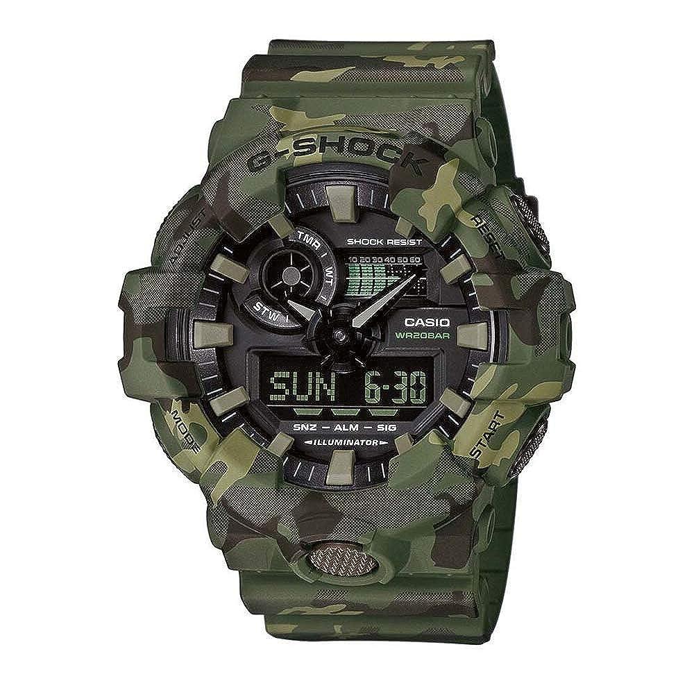 CASIO Reloj Analógico-Digital para Hombre de Cuarzo con Correa en Resina GA-700CM-3AER