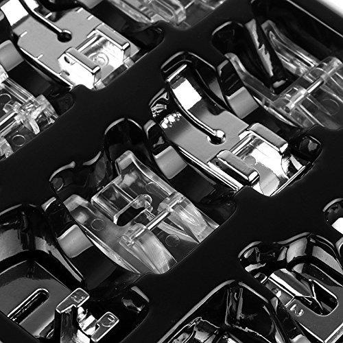 Janome Simplicit/é Onerbuy 16pcs Machine de couture domestique professionnelle Presser Foot Set Snap-on presser Feet Kit pour Low Shank Brother Singer Viking Kenmore
