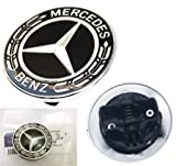 HNLJP Flat Hood Emblem for Mercedes Benz C E SL