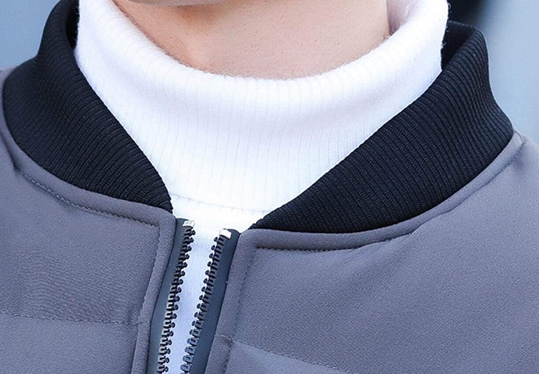 Jmwss QD Mens Thick Stylish Quilted Warm Winter Slim Zipper Down Jacket Coat