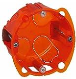 Legrand LEG90501  Boite d'encastrement Batibox 1 poste Multimatériaux - profondeur 40mm