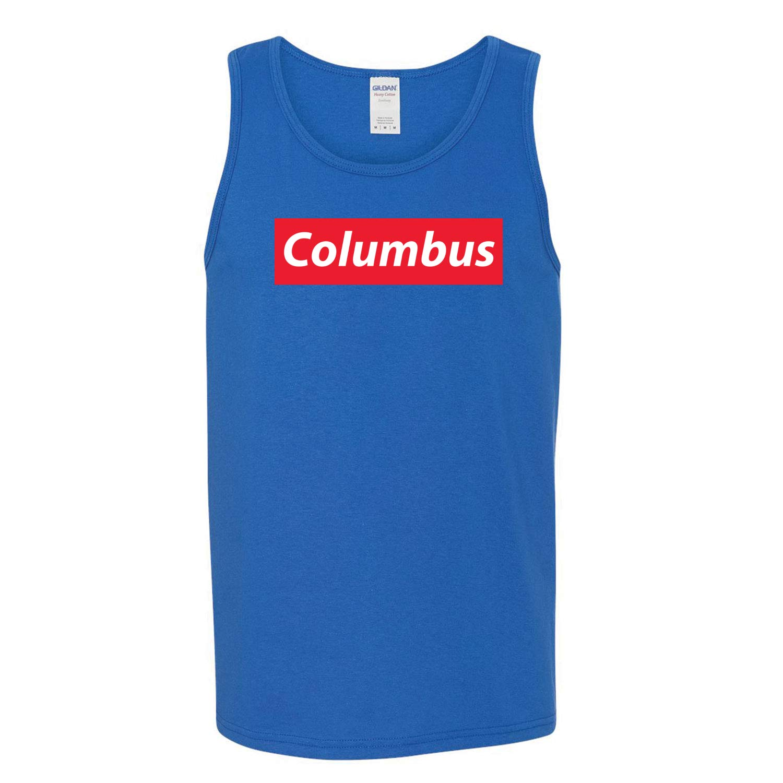 Red Box Logo Columbus City Pride Mens Graphic Tank Top