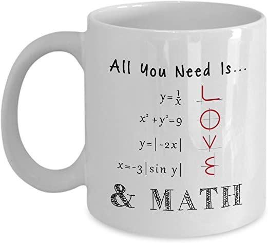 Smart Design Math Style Love Pattern All you need is love Céramique Café Thé Tasse
