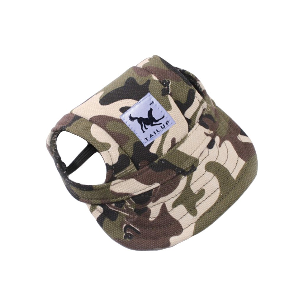 Ztl Pet Baseball Cap Dog Sports Hat Visor Cap Fashion Dogs Cats Sun Hat with Ear Holes and Adjustable Chin Strap