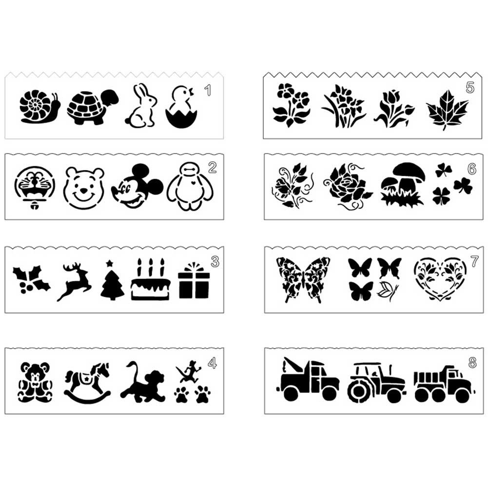 Bullet Journal Stencil Set 8 Pack Plastic Planne Art DIY Craft Template for Children Drawing Notebook Diary Christmas Birthday Gift Card Youlei
