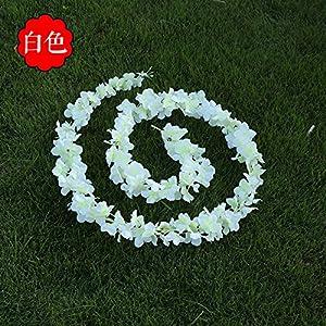 Nyalex 2M 5pcs/lot Elegant Artificial Flowers Silk Wisteria Hydrangea Vine Hanging Fake Flower Wedding Party Art Decor Plant 1