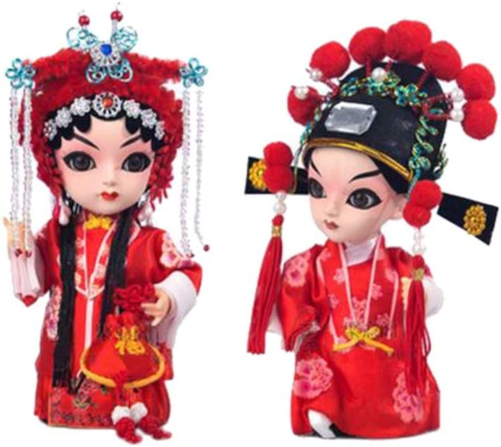 Amazon.es: Blancho Bedding Artesanía de Novia y el Novio Creativo China Pekín Decoración de Muñecas de la ópera: Juguetes y juegos