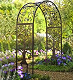 Metal Garden Arbor with Tree of Life Design