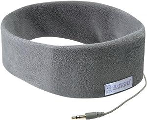 AcousticSheep SleepPhones Classic | Corded Headphones for Sleep, Travel, and More | The Original and Most Comfortable Headphones for Sleeping | Soft Gray - Fleece Fabric (Size M)