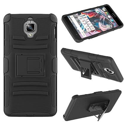best website e7abb 4b1c0 Oneplus 3 Belt Clip Case, KASOWORKSHOPS 3 in 1 Stand Holster Combo ...