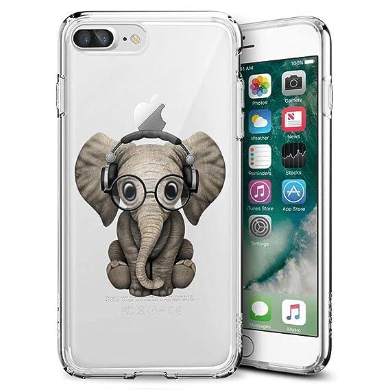 Amazon com: iPhone 7 8 Case,DJ Baby Elephant Case for iPhone 7 8