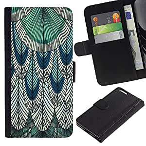 KingStore / Leather Etui en cuir / Apple Iphone 6 PLUS 5.5 / Inchiostro Disegno