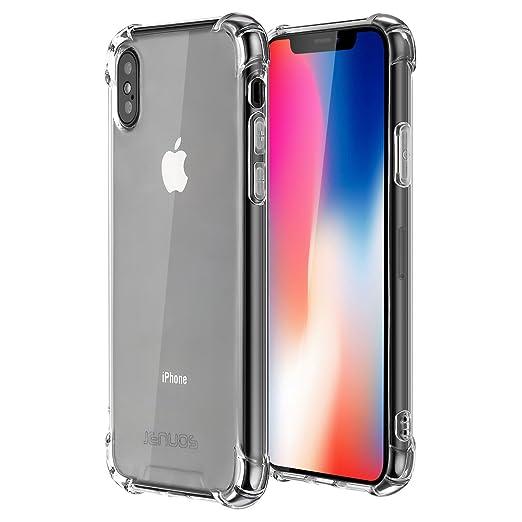 9 opinioni per Cover iPhone X, Custodia Jenuos Trasparente Antiurto Paraurti Silicone