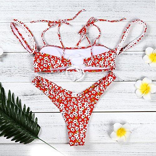 Up Bikini Beachwear Da bagno Due Benda Bagno Donna Sexy costumi da Aperto Set costume reggiseno Costume push Mare up Bikini da imbottito bagno Styledresser Donna Push Triangolo Pezzi Folds Imbottito wOvCXq