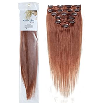 Amazon emosa 100 real human hair full head silky soft remy emosa 100 real human hair full head silky soft remy clip in hair extensions pmusecretfo Images