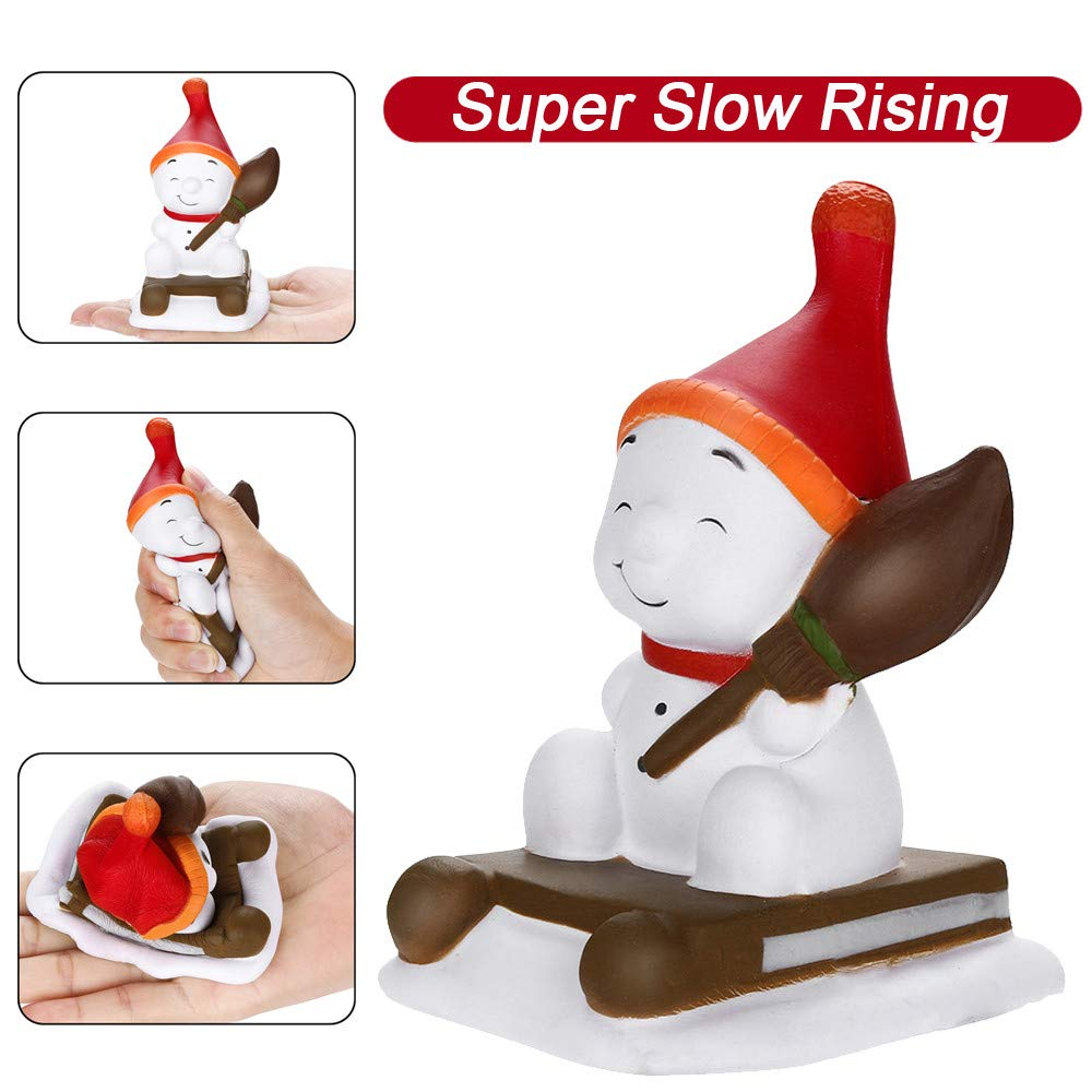 Stress Relief Toys | Cute Squishy Christmas Snowman Toy Slow Rising Fruits Scented Toy