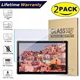 2-Pack Glass Screen Protector for Huawei MediaPad M5 10.8 inch Tablet(2018 Release Only) - DHZ 9H Hardness Scratch Resistant Anti-Bubble Premium Film Tempered Glass Screen Protector
