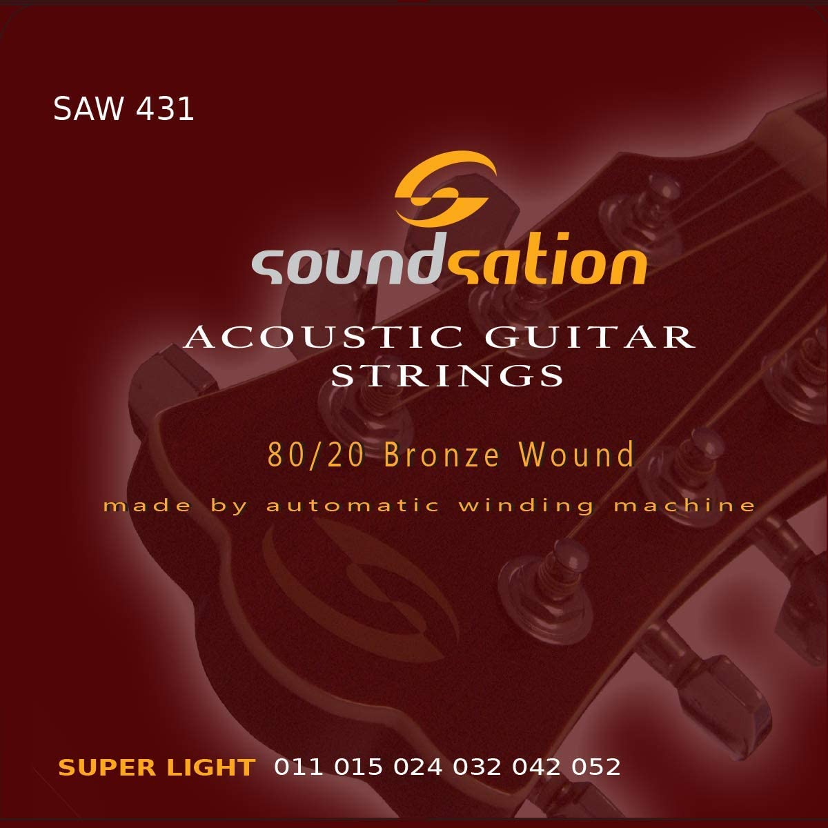 Cuerdas para guitarra acústica SOUNDSATION SAW431 tensión (11-52) super light