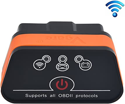 Vgate iCar2 Wi-Fi Scanner Scan Tools OBD2 OBDII Code Reader Diagnostic Tool Interface Check Engine Light for iOS iPhone IPad Android//PC Black//Orange