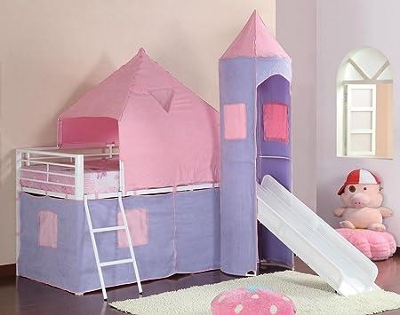 Posavasos muebles litera princesa castillo tienda izquierda cama – morado y rosa: Amazon.es: Hogar
