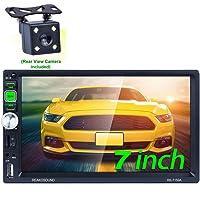 Honboom 2 DIN Radio Coche Bluetooth Car Stereo con Pantalla Táctil HD de 7 Pulgadas Soporta Llamadas Manos Libres/FM/USB…