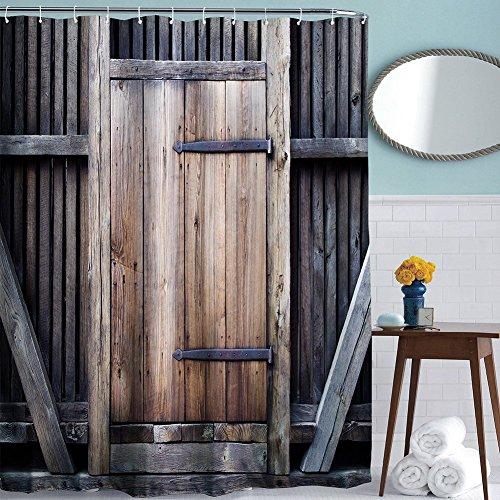 Rustic Shower Curtain Set By Toha Farmhouse Barn Door
