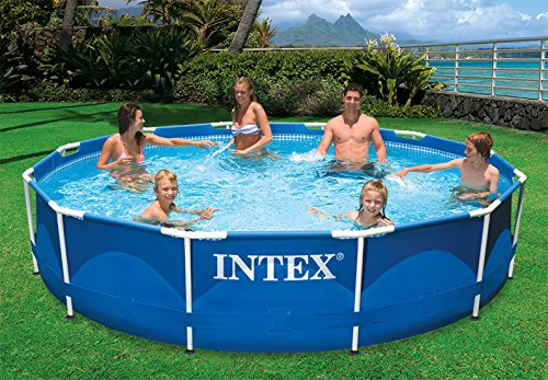 Intex 12' X 30'' Metal Frame Above Ground Swimming Pool With Filter Pump