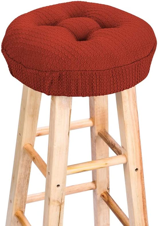 Cushion only, no Stool Lominc 12.5 Round Thick Padded Bar Stool Cover Cushion Suitable for 11.5-13 Stools Oil and Water Resistant with Ties to Stay On Comfortable to Relieve Pressure