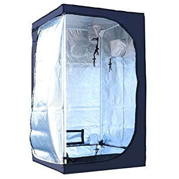 MEIZHI 60X60X90 CM Grow Tent Green Room Garden Hydroponics Box Mylar Silver for seeding  sc 1 st  Amazon UK & MEIZHI 60X60X90 CM Grow Tent Green Room Garden Hydroponics Box ...