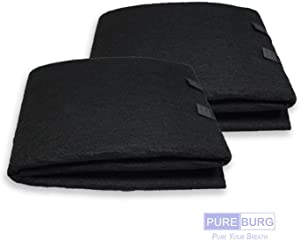 PUREBURG 2-PACK Cut-to-Fit Carbon Pad 16 x 48 inches for Air Filters Charcoal Sheet fits Air Purifiers Range Hoods Furnace Filters removes Odor VOC Parts Accessories Replacement Replenishment and more
