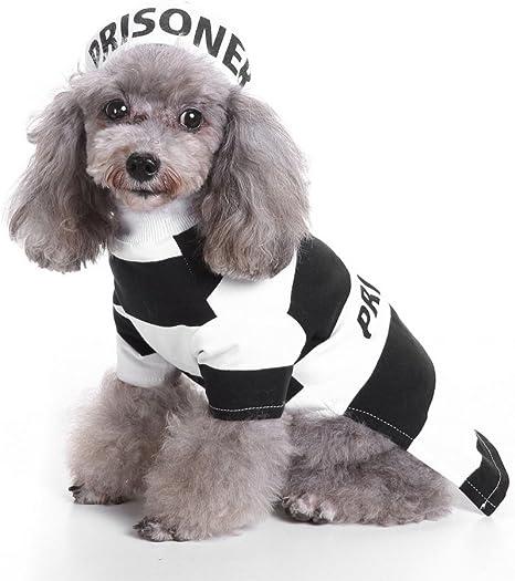 SMALLLEE LUCKY TIENDA Prison Dog Pet Costume Prison Pooch Disfraz ...