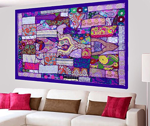 Indian Home Decor Handmade Bohemian Patchwork Design Wall
