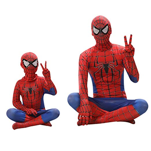 ZHANGQI Spiderman Ropa Cosplay Medias De Disfraces Niños Adultos ...