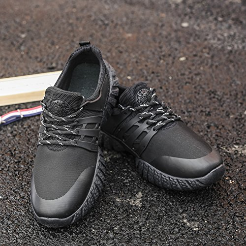 Walking Athletic Running Lace Trainers Black Up GOMNEAR Casual Mesh Sport Shoes Men's Lightweight zpAZq8p