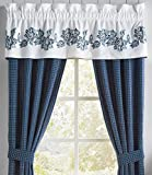 Croscill 2A0-452O0-1612/420 Clayra Tailored Valance, Blue For Sale