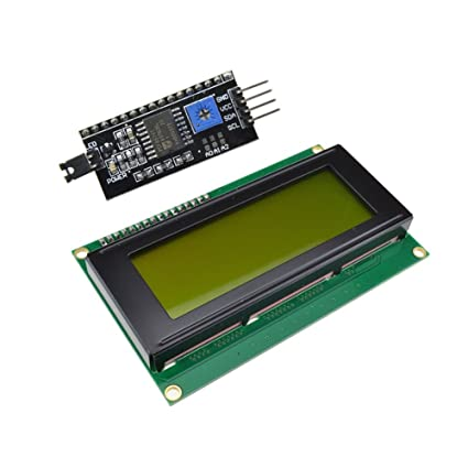 Diymore Yellow Backlight 2004 20x4 LCD Module with IIC/I2C/TWI Serial  Interface for Arduino UNO R3 MEGA2560